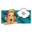 comic pin-up girl message vector image