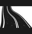 curved asphalt road going to the distance vector image vector image