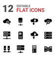 database icons vector image vector image