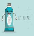 dental care kawaii character vector image