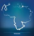 Doodle Map of Venezuela vector image vector image