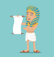 egyptian character read scroll icon cartoon design vector image vector image