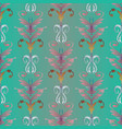 embroidery damask seamless pattern baroque style vector image vector image