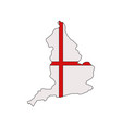 england map with flag vector image vector image