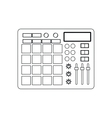 equalizer music sound icon graphic vector image vector image