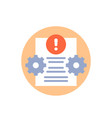 error report or failed test icon vector image vector image