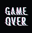 game over glitch vector image