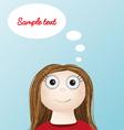 girl woman thinking idea smart vector image