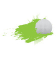golf ball icon with an effect vector image vector image