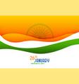 happy new year stylish wavy flag background design vector image vector image