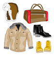 jacket and footwear vector image
