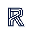 letter r initial logo vector image