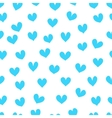 Light blue hearts on a white background vector image vector image
