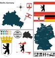 map berlin vector image