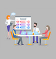 meeting and business plan discussion teamwork vector image