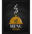 menu board chalk design background vector image