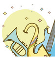 music instrument cartoons vector image