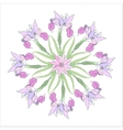 Ornamental round with color irises vector image