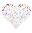 people symbols fireworks heart vector image