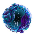 pisces is a sign zodiac vector image