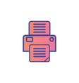 printer flat icon sign symbol vector image