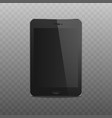 realistic blank screen and display black mobile vector image vector image