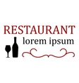 restaurant signboard with bottle and glass vector image
