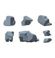 Rock cartoon elements vector image vector image