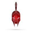 roman or greek helmet spartan helmet vector image vector image