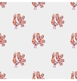 Rooster mosaic pattern vector image