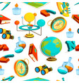 science seamless pattern pictures of vector image vector image