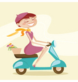 scooter chick vector image vector image