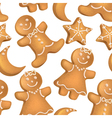 seamless pattern christmas biscuits vector image