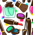 Seamless pattern of decorative cosmetics vector image