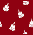 seamless pattern with christmas candle vector image