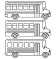 set line icons school buses vector image