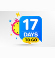 seventeen days left icon 17 days to go vector image vector image