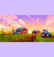 smart ecological farming cartoon concept vector image vector image