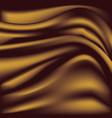 Soft golden silky fabric silk waves background
