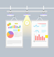 statistical charts and graphs vector image vector image
