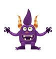 troll bigfoot cute funny fairytale character vector image