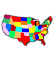 usa patchwork map vector image vector image