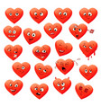 valentines set of heart emotions vector image