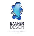 vertical banner with 3d marine landscape with vector image vector image