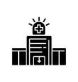 walk in clinic black glyph icon vector image