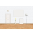 White Room of bricks and parquet vector image