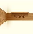 wooden boards vector image