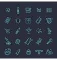 Pregnancy and motherhood line icons set vector image