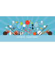 Sports Equipment Flat Icons Display Banner vector image