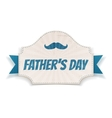 Fathers Day textile Card with greeting Ribbon vector image